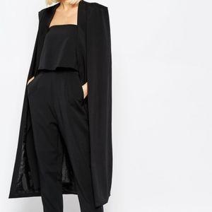 Cape Jacket Midi in Black size 10